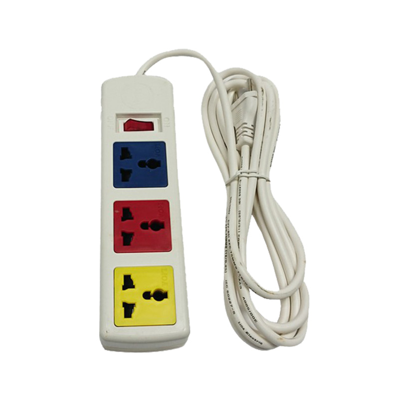 Ổ cắm điện đa năng 3 ổ cắm 1 công tắc dây 5m trắng 2200W - 3300W LiOA 3D52WN