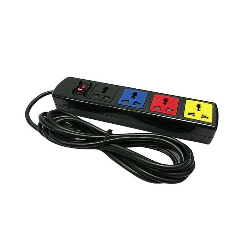 Ổ cắm điện kéo dài đa năng 4 ổ cắm 1 công tắc dây 3m 2200W - 3300W LiOA 4D32N