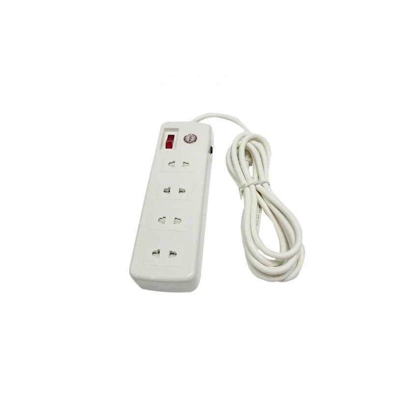 Ổ cắm điện 4 ổ cắm dây 2.5m có nắp che an toàn 3300w LiOA 4SS2.5-2