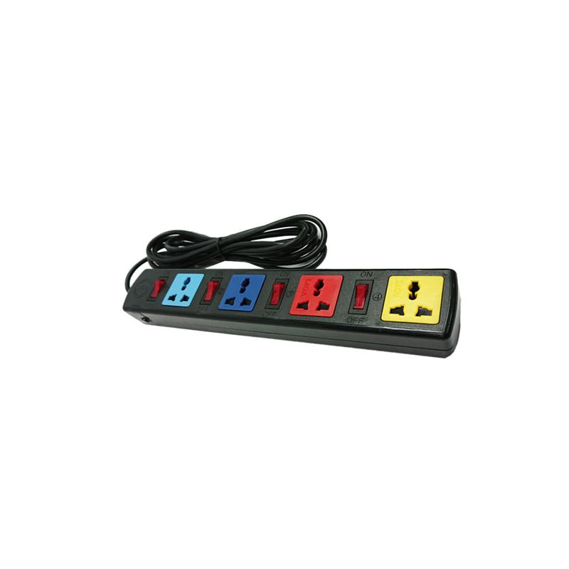 Ổ cắm điện đa năng 4 ổ cắm 4 công tắc dây 5m 2200W - 3300W LiOA 4DOF52N