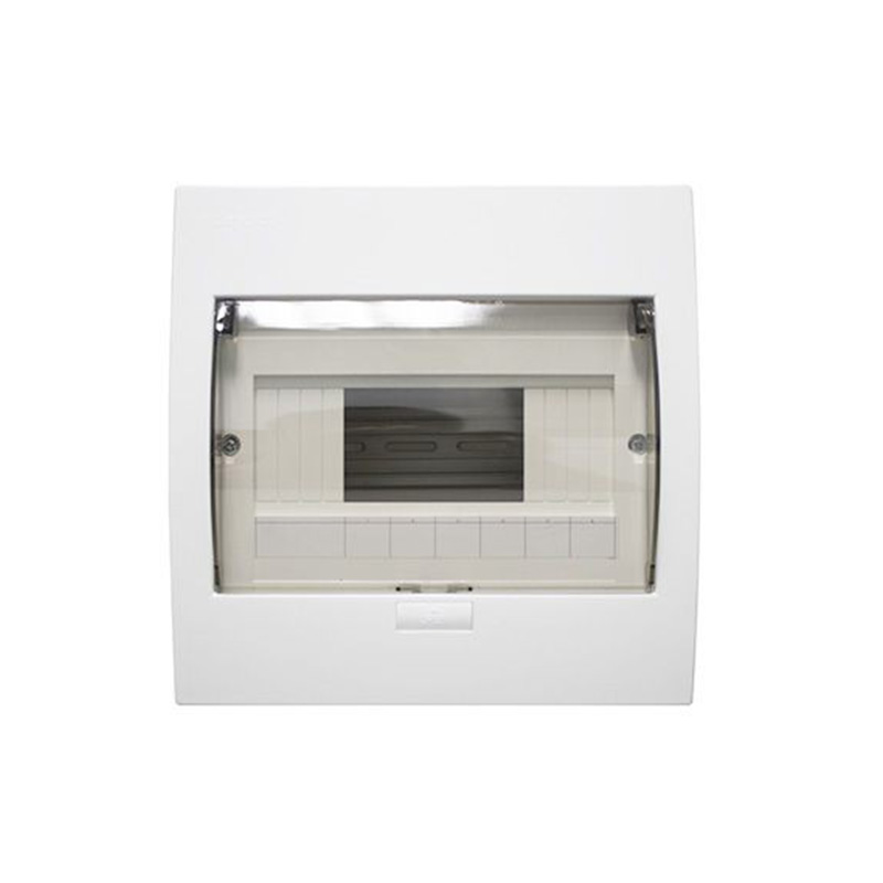 Tủ điện mặt nhựa đế kim loại 4-8 đường NANOCO NDP108P
