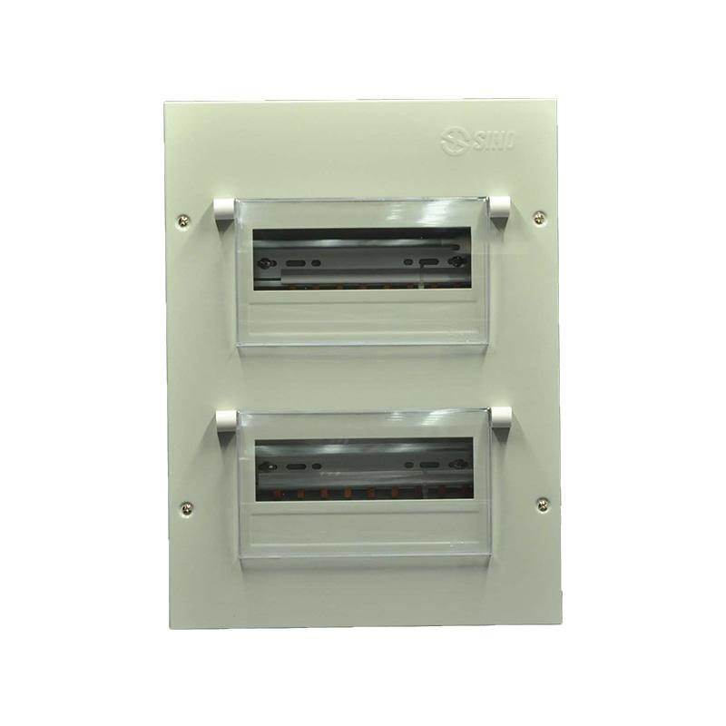 Tủ điện vỏ kim loại chứa 24 Module Sino EM24PL EM24PL