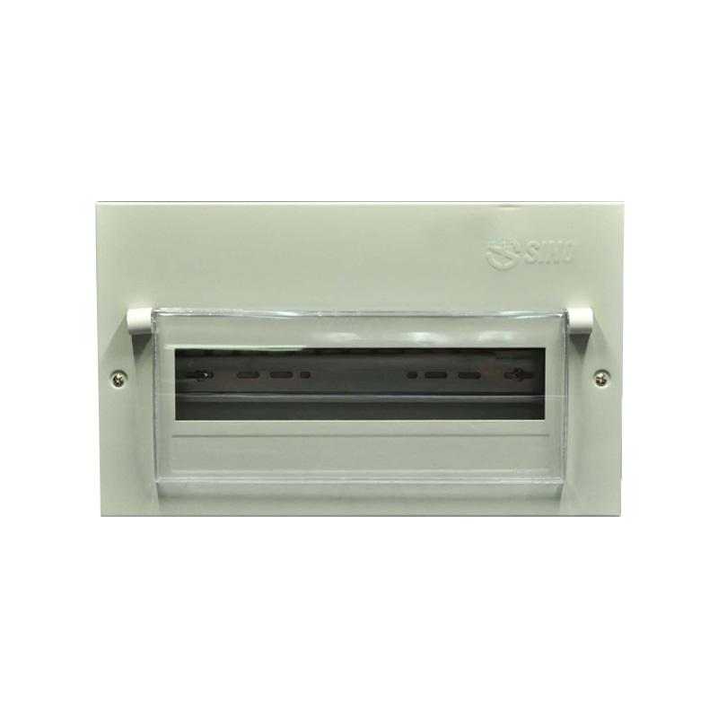 Tủ điện vỏ kim loại chứa 14 Module lắp chìm SINO 601056TDEM14PLCB