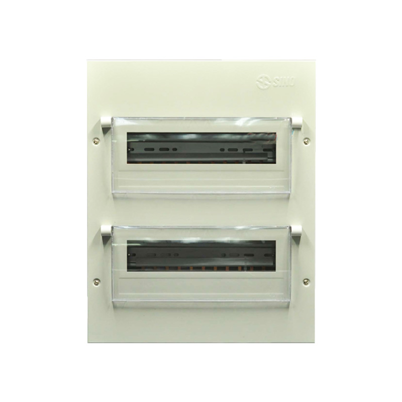 Tủ điện vỏ kim loại chứa 28 Module lắp chìm SINO 601056TDEM28PLCB