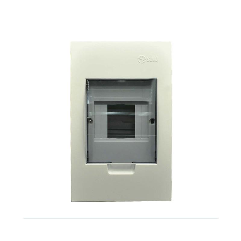 Tủ điện mặt và đế nhựa 2-4 modules SINO 601TRTASPE4FC24SAB