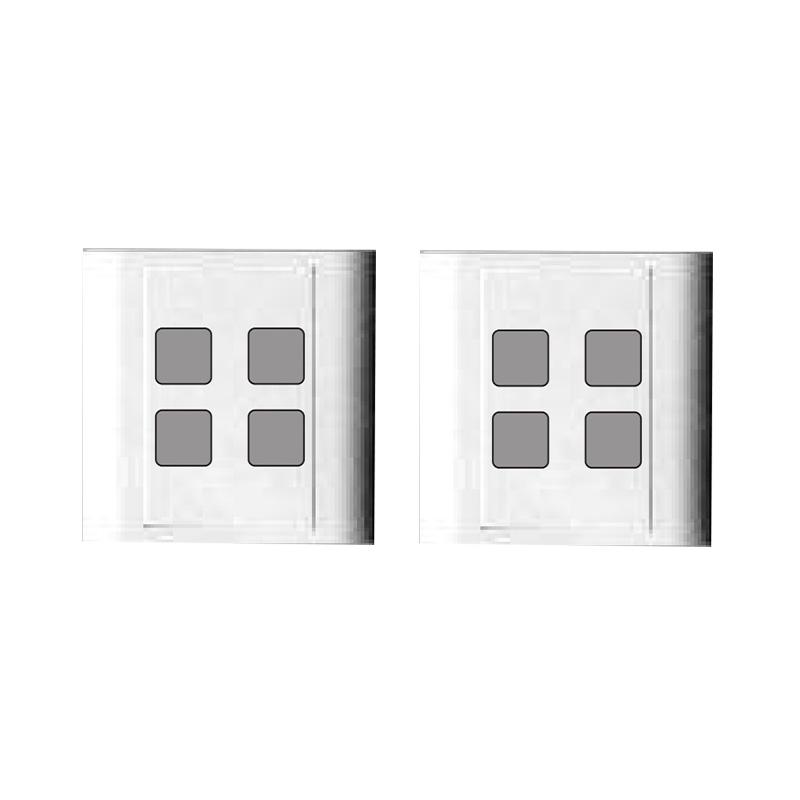 Mặt 4 lỗ và viền đơn trắng- Series V20 LiOA V20S4X