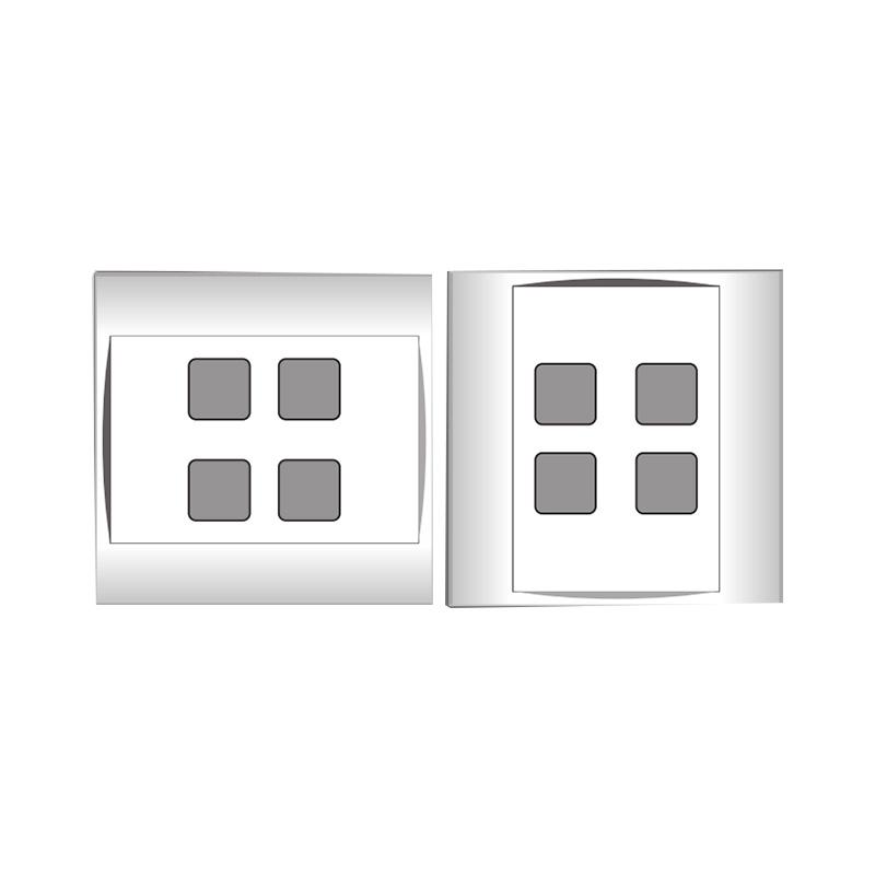 Mặt 4 lỗ và viền đơn trắng- Series V20SM LiOA V20SM4X