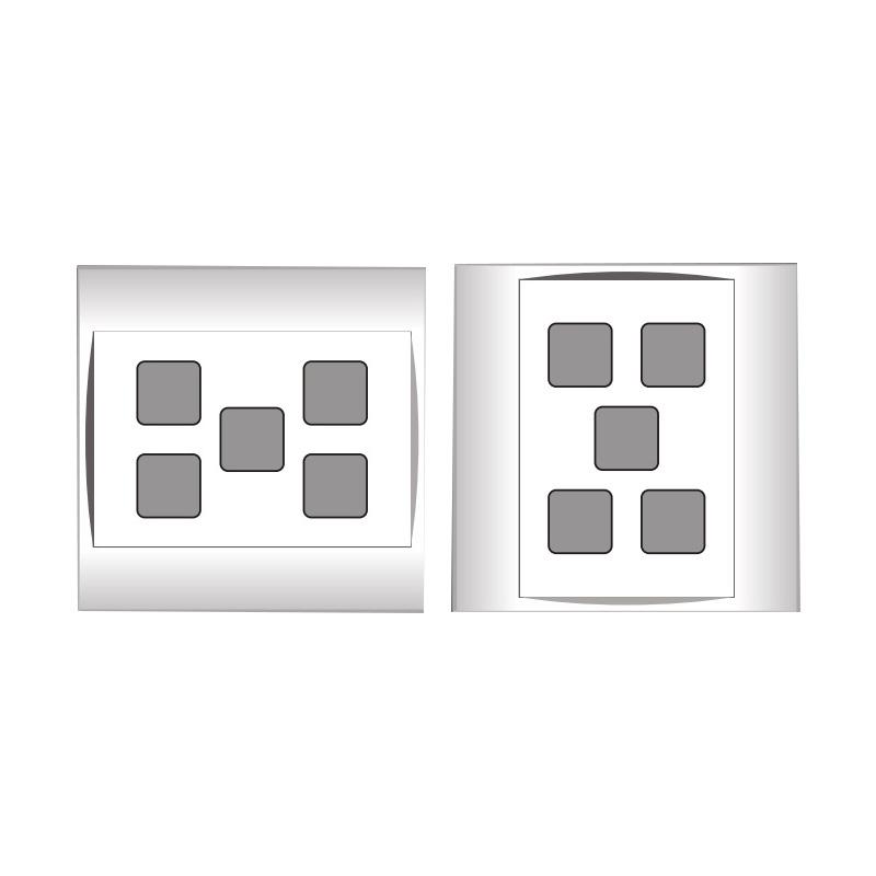 Mặt 5 lỗ và viền đơn trắng- Series V20SM LiOA V20SM5X