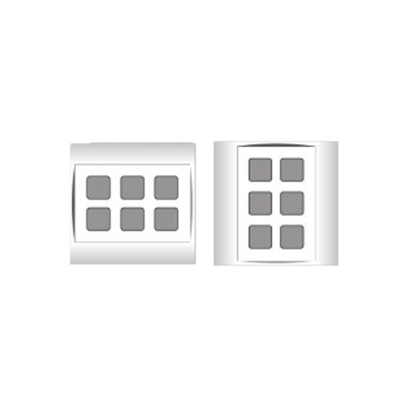 Mặt 6 lỗ và viền đơn trắng- Series V20 LiOA V20S6X