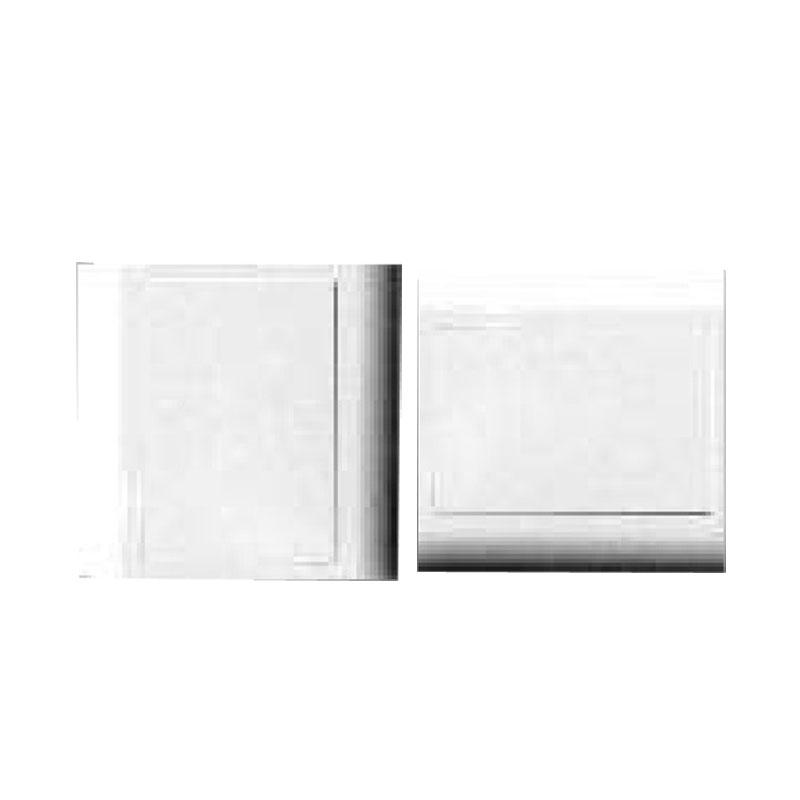 Mặt che trơn và viền đơn trắng  LiOA V20S1830X
