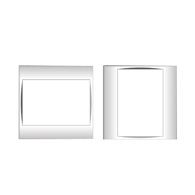 Mặt che trơn và viền đơn trắng  LiOA V20SM1830X
