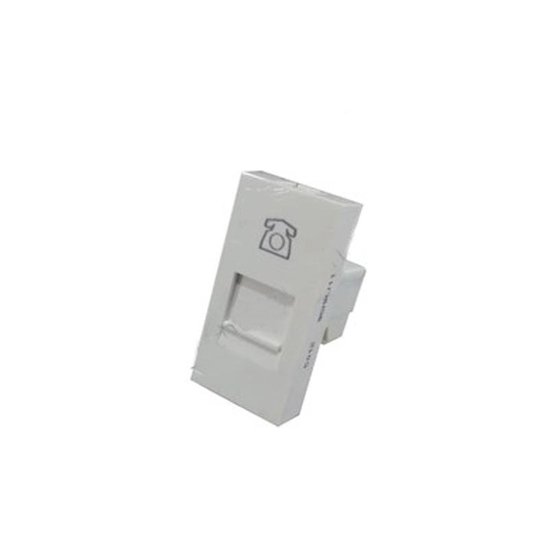 Ổ cắm điện thoại 4 chân (22.5 x 45 mm) dạng mô-đun (10088) Hager - WGMRJ11