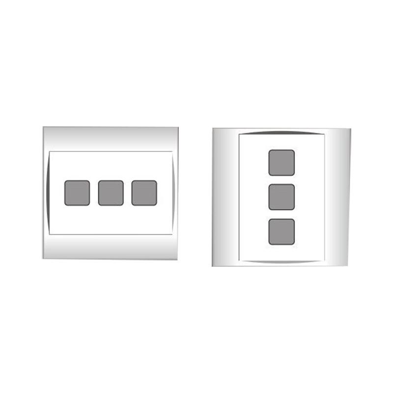 Mặt 3 lỗ và viền đơn trắng- Series V20SM LiOA V20SM3X