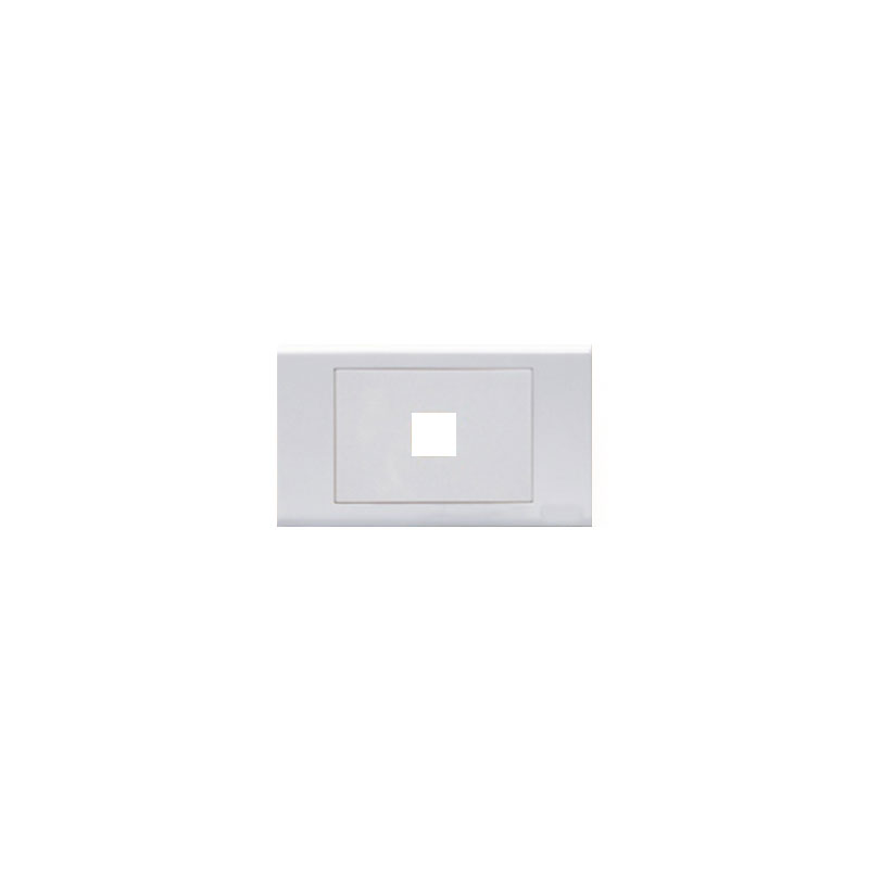 Mặt lỗ vuông viền thẳng mặt 1 lỗ LiOA E18S1X