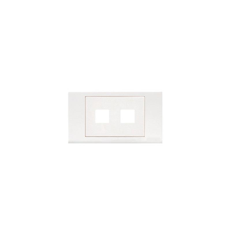 Mặt lỗ vuông viền thẳng mặt 2 lỗ LiOA E18S2X