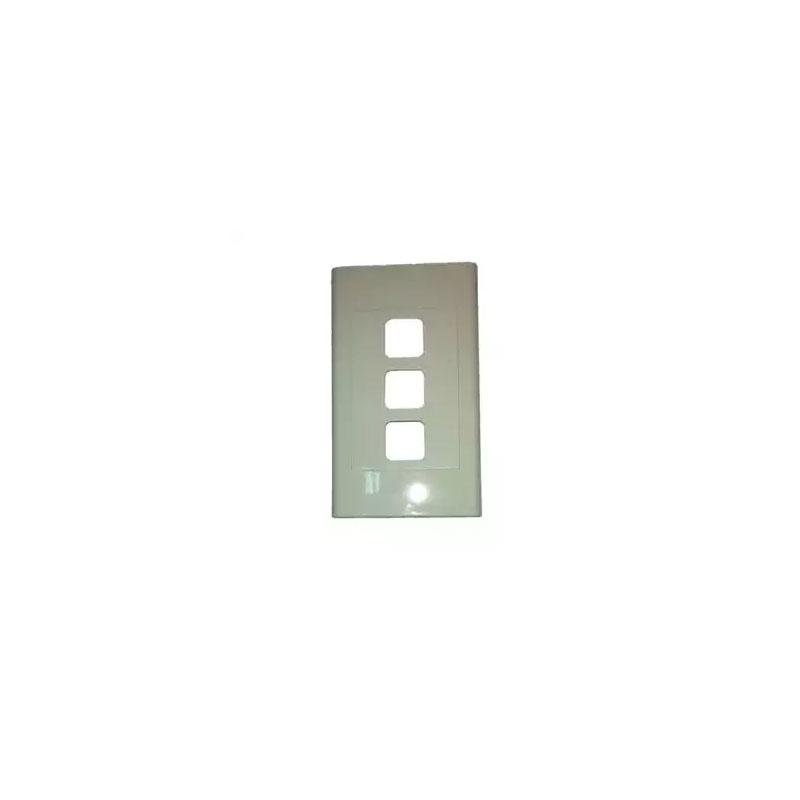 Mặt lỗ vuông viền thẳng mặt 3 lỗ LiOA E18S3X