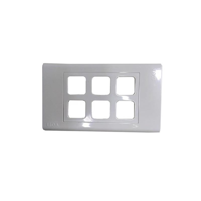 Mặt lỗ vuông viền thẳng mặt 6 lỗ LiOA E18S6X