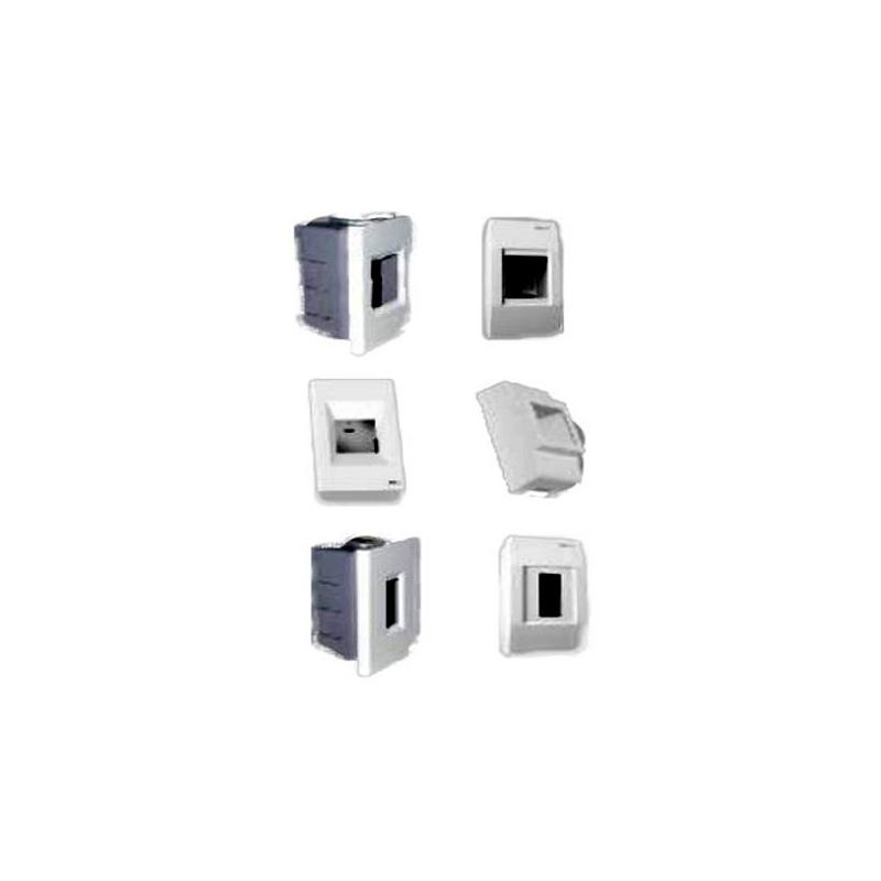 Mặt và đế âm tường chứa 1 MCB kiểu M LiOA SE100M + SE9221