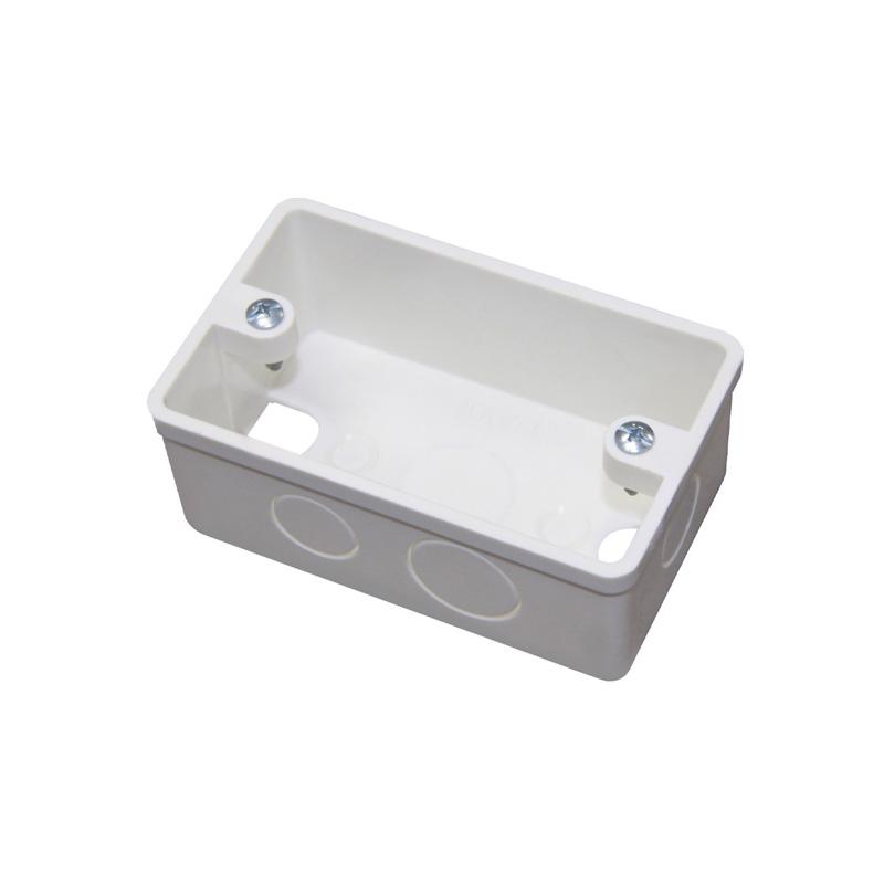 Hộp âm nhựa trắng đơn 106x64x43mm NANOCO NA101