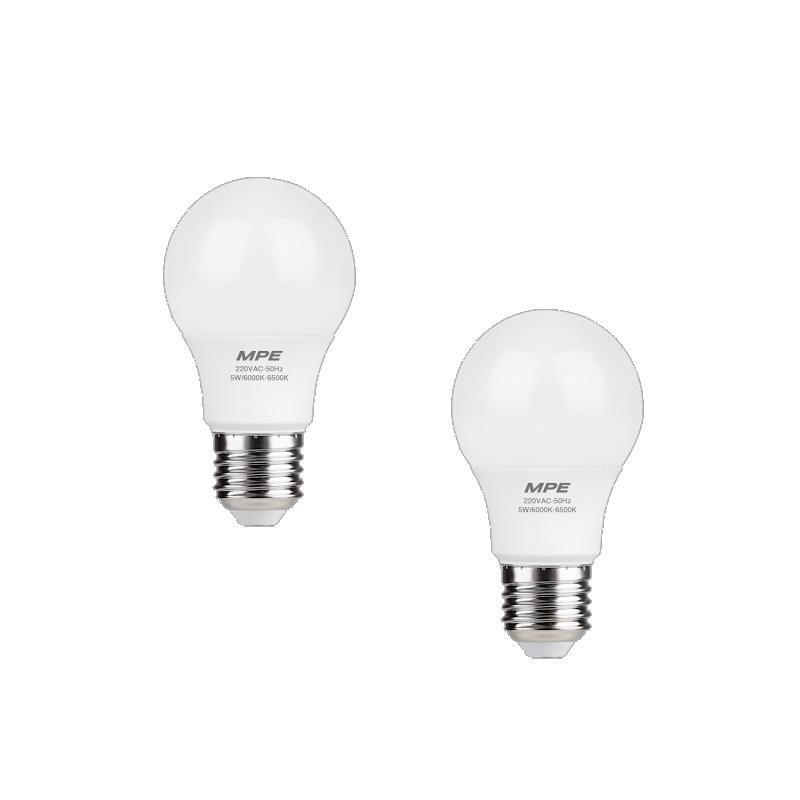 Đèn Led Bulb 7W góc chiếu 230° MPE LBL-7V ánh sáng vàng