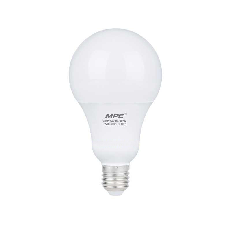 Đèn Led Bulb 9W góc chiếu 230° MPE LBL-9V ánh sáng vàng