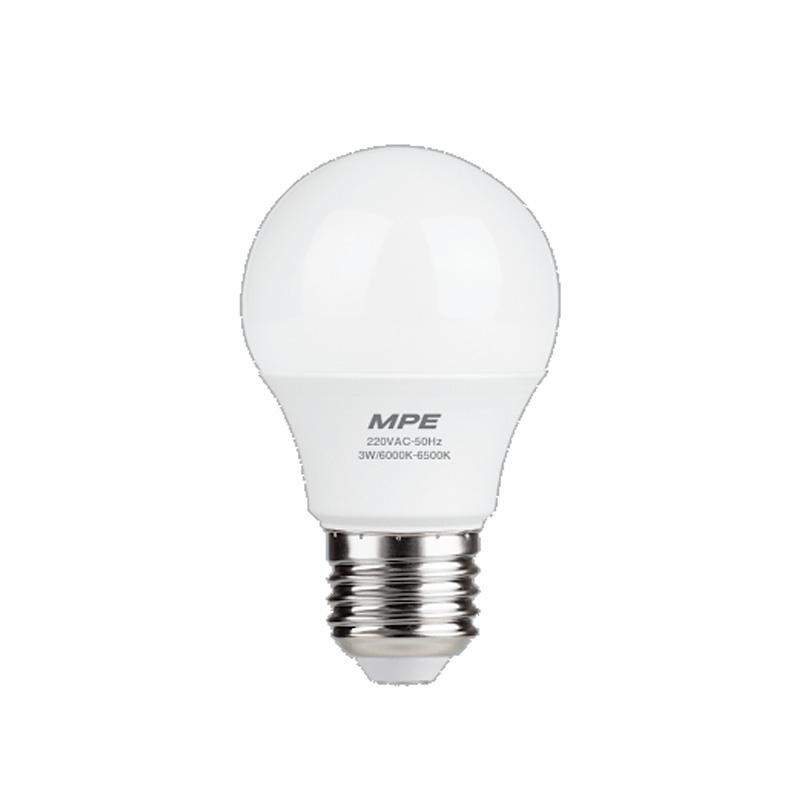 Đèn Led Bulb 3W đui E27 MPE LBD-3T ánh sáng trắng