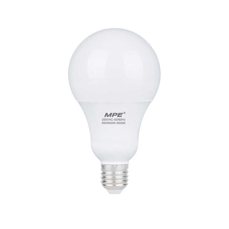 Đèn Led Bulb 9W góc chiếu 230° MPE LBS- 9V ánh sáng vàng