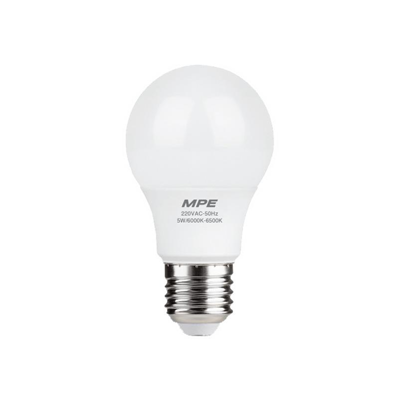 Đèn Led Bulb 5W đui E27 MPE LBD-5T ánh sáng trắng