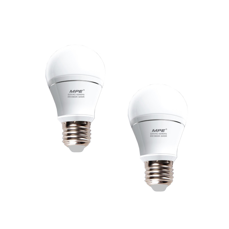 Đèn Led Bulb 7W góc chiếu 230° MPE LBA-7V ánh sáng vàng