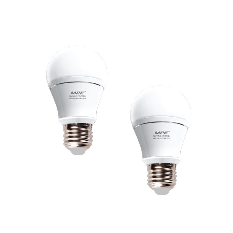 Đèn Led Bulb 9W góc chiếu 230° MPE LBA-9T ánh sáng trắng