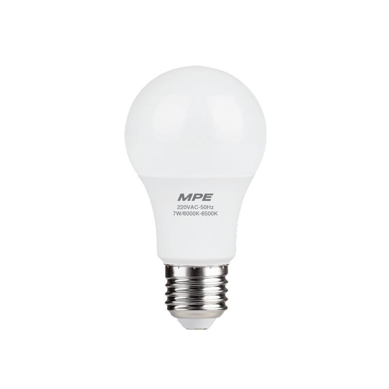 Đèn Led Bulb 7W đui E27 MPE LBD-7T ánh sáng trắng