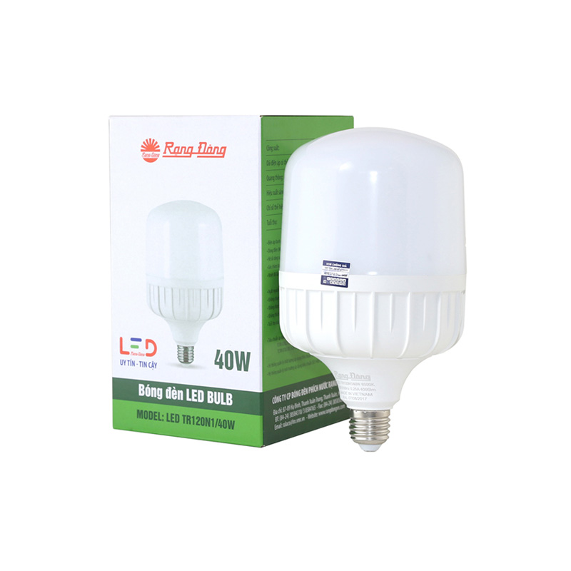 Đèn LED BULB (LED TR120N1/40W) Rạng Đông E27-6500K SS
