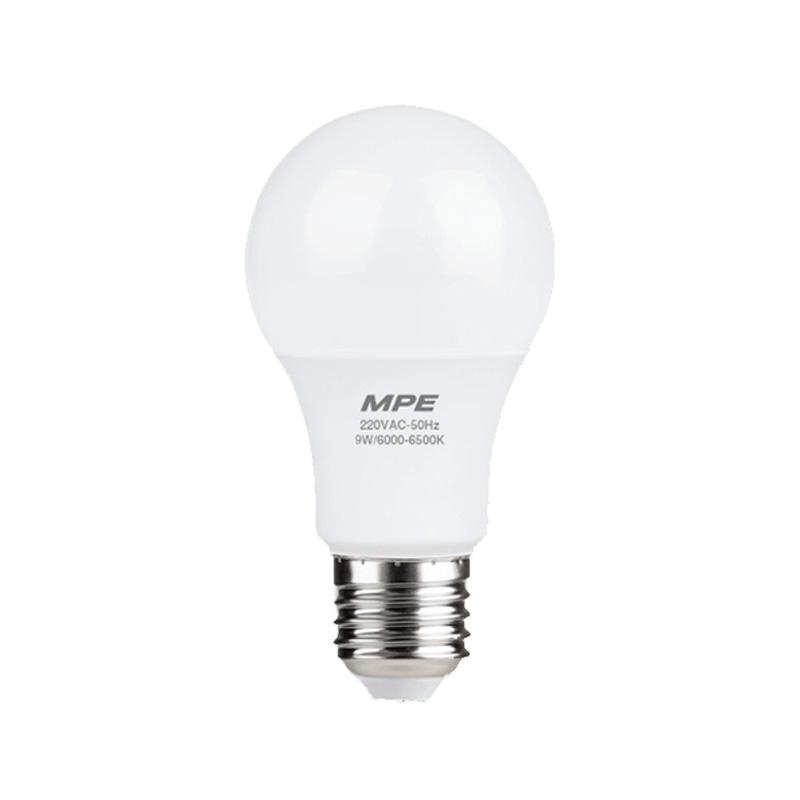 Đèn Led Bulb 9W đui E27 MPE LBD-9V ánh sáng vàng