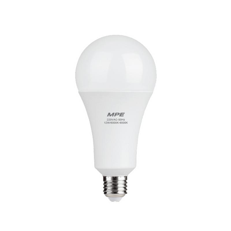 Đèn Led Bulb 12W đui E27 MPE LBD-12V ánh sáng vàng