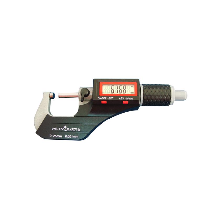 Thước Panme điện tử đo ngoài 0-25mm/0-1inch METROLOGY EM-9001