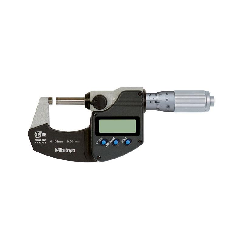Panme điện tử đo ngoài 0-25mm/IP65 cổng SPC Mitutoyo 293-230-30