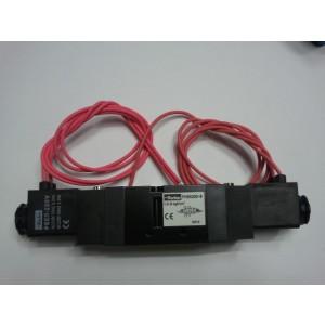 Van solenoid Parker 5 cửa 2 vị trí, 2 coil ren 13 PHS-520D-8