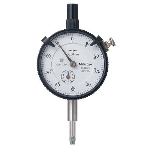 Đồng hồ so cơ khí 0-5mm độ chia 0.01 lưng phẳng Mitutoyo 2044SB