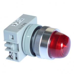 Đèn báo Idec led loại Unibody mặt lồi YW1P-2UQM3[R, Y]