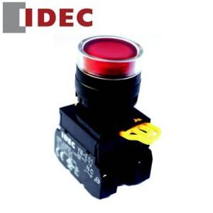 Nút nhấn Idec có đèn loại phẳng, nhấn nhả YW1L-MF2E01QM3R