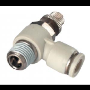 Van tiết lưu 1 đầu ống, 1 đầu ren SP1201F-M5-04-W