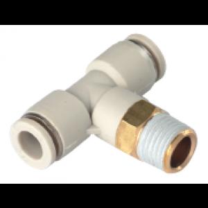 Co nối chữ T, 2 đầu ống, 1 đầu ren SQY06-02S-W