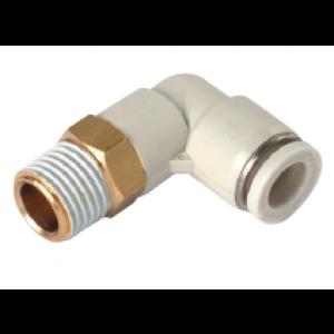 Co nối chữ L, 1 đầu ống, 1 đầu ren SQL04-M5-W