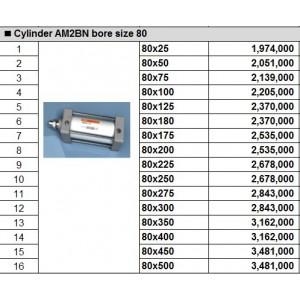 Xy lanh TPC dòng AM2BN bore size 80