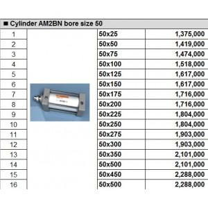 Xy lanh TPC dòng AM2BN bore size 50