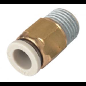 Khớp nối thẳng 1 đầu ống, 1 đầu ren SQH04-M5-W