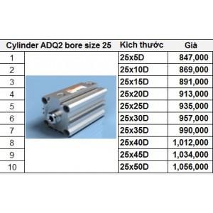 Xy lanh TPC dòng ADQ2 bore size 25