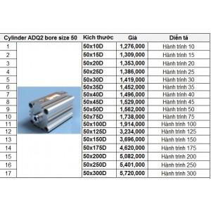 Xy lanh TPC dòng ADQ2 bore size 50