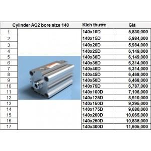 Xy lanh TPC dòng AQ2 bore size 140