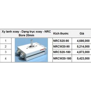 Xy lanh xoay - Dạng trục xoay - NRC Bore 20mm